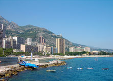 Coast of Monte-Carlo Stock Images