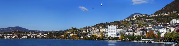 Coast of Montreux Stock Photography