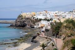 Coast at Morro Jable, Fuerteventura stock photography