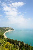 The coast from Mount Conero. Royalty Free Stock Photography