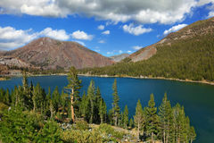The coast of mountain lake Elleri Stock Images