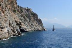 Coast near Alanya Royalty Free Stock Image
