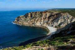The coast  near cape Espichel, Portugal Royalty Free Stock Photos