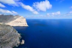 Coast near Cape Formentor in Mallorca horizontal. Sea near Cape Formentor in Mallorca, Balearic island, Spain Royalty Free Stock Image