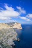 Coast near Cape Formentor in Mallorca. Sea near Cape Formentor in Mallorca, Balearic island, Spain Stock Photos