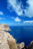 Coast near Cape Formentor in Mallorca vertical. Sea near Cape Formentor in Mallorca, Balearic island, Spain Stock Images