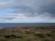 Coast near Cape Leeuwin Lighthouse. Cape Leeuwin Lighthouse Augusta Western Australia wa royalty free stock images