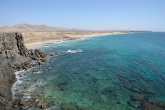 Coast near El Cotillo, Fuerteventura Royalty Free Stock Image