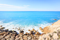 Coast Near Nice, Cote D`azur, French Riviera, France Stock Image