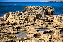 Coast near Nissi Beach. Cyprus. Stock Images
