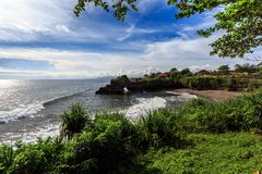 Coast near Tanah Lot, Bali. Indonesia Royalty Free Stock Images
