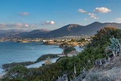 Coast near the town Sarantaris, Crete, Greece stock photography