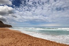 The coast nearr Port Campbell,Great Ocean Road in Victoria, Australia Royalty Free Stock Photo