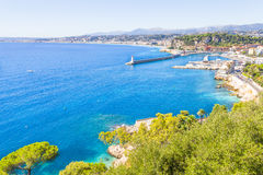 The coast of Nice, France Stock Photos