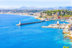 The coast of Nice, France Royalty Free Stock Photo