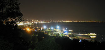 coast night Στοκ Φωτογραφία