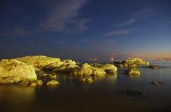 Coast night scenes Stock Images