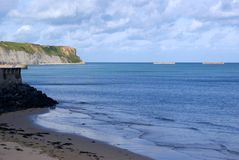 Coast of Normandy, France on a summer day Royalty Free Stock Image