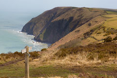Coast of North Devon between Ilfracombe and Lynmouth Royalty Free Stock Photos