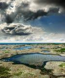 Coast of North Sea, France Stock Image
