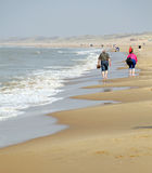 Coast of the North sea in Netherlands near dunes Meijendel Royalty Free Stock Photography