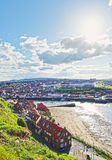 Coast of North Sea in Whitby in North Yorkshire in England Royalty Free Stock Image