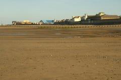 Coast of North Wales. North Wales coast in Rhyl, England Stock Image
