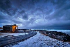 Coast of Norwegian sea royalty free stock image