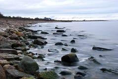 Coast in november Stock Photo