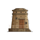 Coast Observation Tower Vector Illustration Royalty Free Stock Images