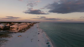 Coast Ocean. Aerial view of the Florida Beach stock video