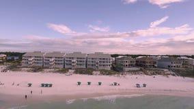 Coast Ocean. Aerial view of the Florida Beach stock video