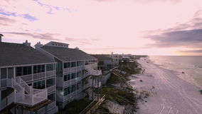 Coast Ocean. Aerial view of the Florida Beach stock video footage
