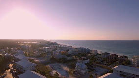 Coast ocean aerial view of the Florida Beach stock video footage