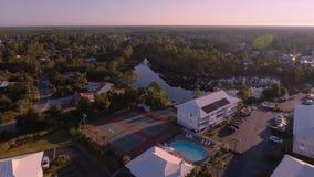 Coast Ocean Aerial view of the Florida Beach stock video