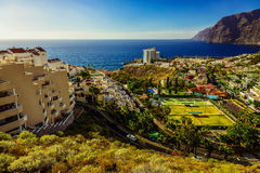 Coast of Ocean with Buildings Royalty Free Stock Photography