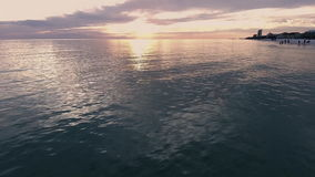 Coast Ocean USA, Florida. Sunset at the ocean, Gulf of Mexico stock video footage