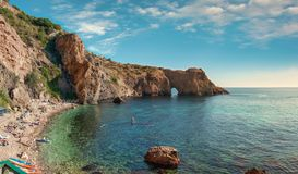 Free Coast Of The Black Sea, Diana`s Grotto, Cape Fiolent, Sevastopol, Crimea, Russia Royalty Free Stock Images - 155017159