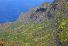 Coast off of island of Kauai, Hawaii Royalty Free Stock Photo