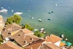 Coast of Ohridsko lake Stock Photography