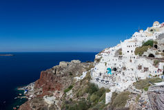 Coast of Oia Royalty Free Stock Images