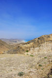 Coast of Oman. A cliff on the coast of Oman Stock Photos