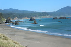 coast oregon Arkivbild