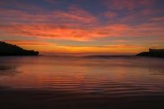 The coast of Oropesa del Mar on the Costa Azahar. Spain Stock Photography