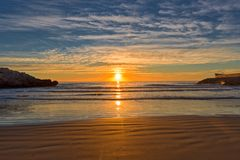 The coast of Oropesa del Mar on the Costa Azahar. Spain Royalty Free Stock Photography