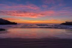 The coast of Oropesa del Mar on the Costa Azahar. Spain Stock Image