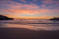 The coast of Oropesa del Mar on the Costa Azahar. Spain Royalty Free Stock Photo
