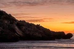 The coast of Oropesa del Mar on the Costa Azahar. Spain Royalty Free Stock Photos