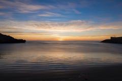 The coast of Oropesa del Mar on the Costa Azahar. Spain Stock Images