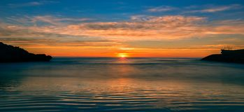 The coast of Oropesa del Mar on the Costa Azahar. Spain Royalty Free Stock Image
